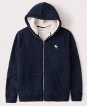 Abercrombie & Fitch SherpaLined FullZip Exploded Icon Hoodie