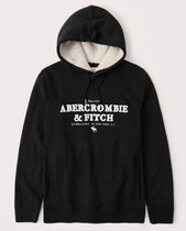 Abercrombie & Fitch Sherpa-Lined Logo Hoodie