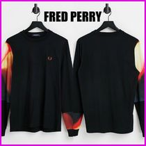 【FRED PERRY】cut and sew graphic長袖Tシャツ 送料無料