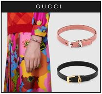 ☆GUCCI☆Double G leather bracelet レザーブレスレット☆