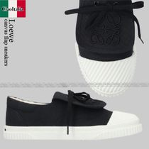 Loewe Anagram canvas flap sneakers