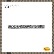 【GUCCI】ネクタイピン Tie bar with Square G in silver