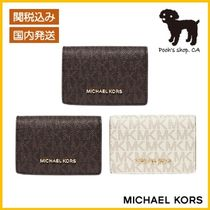 【Michael Kors】Small Logo and Leather Wallet◆国内発送◆