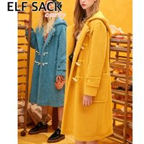 【ELF SACK】ダッフルコート   イエロー/ブルー  送料・関税込み