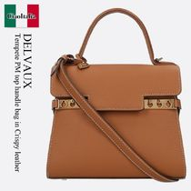 DELVAUX(デルボー) ハンドバッグ Delvaux Tempete PM top handle bag in Crispy leather