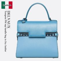 DELVAUX(デルボー) ハンドバッグ Delvaux Tempete PM top handle bag in Joy leather
