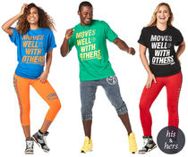 ZUMBA Moves Well With Others Tees (Blue, Green, Black)