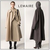 「LEMAIRE」OVERCOAT COTTON LINEN CANVAS ロングコート
