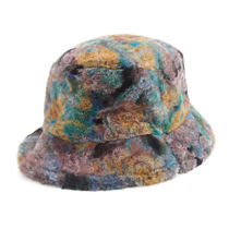 13MONTH::PATTERNED FUR BUCKET HAT:56cm[RESALE]