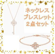 【swarovski】DEARY ネックレス&ブレスレット 2点セット