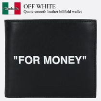 Off White Quote smooth leather billfold wallet