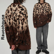 Raucohouse(ラウコハウス)★ Two-Tone Leopard knitwear