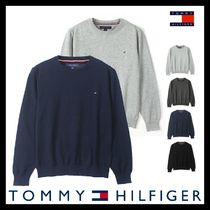 ◆送料/関税込◆[Tommy Hilfiger] COTTON ROUND NECK KNIT