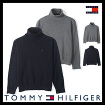 ◆送料/関税込◆[Tommy Hilfiger] COTTON ROLL NECK KNIT