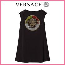 Kids♪【イタリアブランドVERSACE】Crystal Medusa Jersey Dress