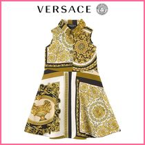 Kids♪【イタリアブランドVERSACE】Baroque Dress White