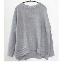 """""""COS"""" ORGANIC COTTON RELAXED KNITTED JUMPER LIGHTGRAY"""