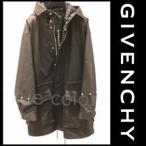 GIVENCHY 21SS STUDIO HOMME バックロゴ フード付 パーカ コート
