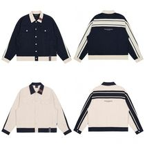 [ROMANTICCROWN] BACK LOGO TRUCKER JACKET★2色