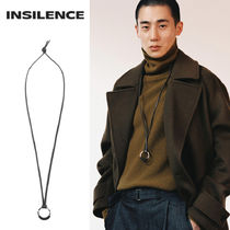 [IN SILENCE] LEATHER CIRCLE ネックレス [限定販売]