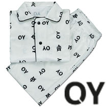 ★OY★VELVET LOGO HOME WEAR SET-WHITE★正規品/韓国直送料込