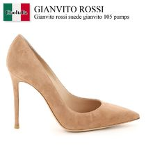 Gianvito rossi suede gianvito 105 pumps