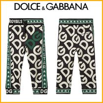 Kids♪人気 ★DOLCE&GUBBANA★ Logo Sweatpants Black and Green