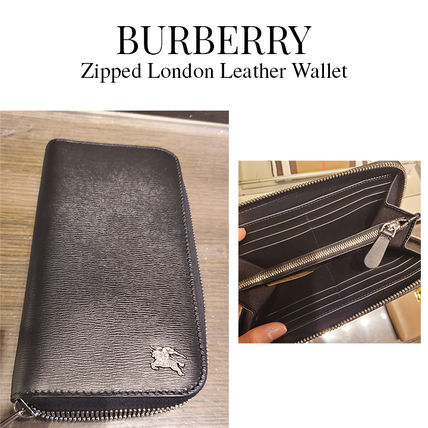 BURBERRY★Zipped London Leather Wallet ロゴ シンプル 長財布