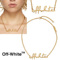 SALE【Off-White】ゴールド ロゴ ネックレス 送料&関税込み GOLD