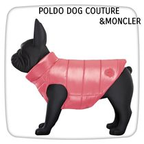 POLDO DOG COUTURE&MONCLER MONDOGロゴナイロンペットベストpink