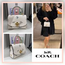 [COACH] 可愛い♪ 花柄 Micro Tilly Top Handle