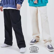 【ONA】21ss新作★ Solid Cotton Long Wide Pants 2色