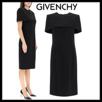 【GIVENCHY】GIVENCHY DRESS IN WOOL CREPE WITH CAPE / ウール
