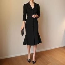 ★THE COCO★韓国人気★ Kara marmaid dress BLACK