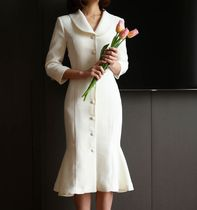 ★THE COCO★韓国人気★ Kara marmaid dress WHITE