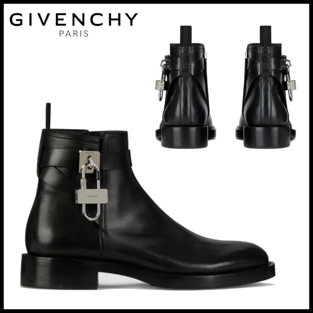21SS GIVENCHY パッドロック付き レザー ブーツ (GIVENCHY/ブーツ) BH6031H0VL-001