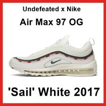 Undefeated x NIKE Air Max 97 OG 'Sail' WHITE 2017 AW 17