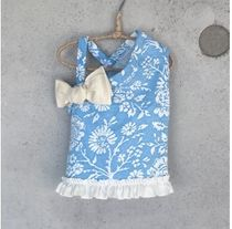Louis dog(ルイスドッグ) ペット(犬猫)服 【Louis dog】Floral One-Shoulder Ribbon Tee 小型犬