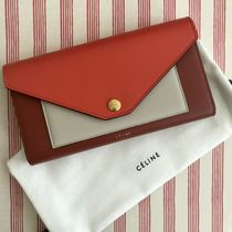 【CELINE】希少♪旧ロゴ Pocket Trifold Flap Wallet