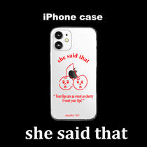 韓国『shesaidthat』 Cherry iPhone Case アイフォンケース