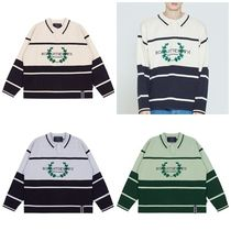 [ROMANTICCROWN]MODERN LAUREL KNITTED POLO SHIRTS★