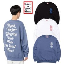 【have a good time】 THANK YOU FOR SHOPPING CREWNECK SWEAT