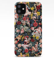 *Society 6* Floral and pin up girls  iPhone ケース