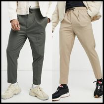 ASOS DESIGN tapered smart jogger with half elasticated waist