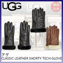UGG*CLASSIC LEATHER SHORTY TECH GLOVE*関送込み