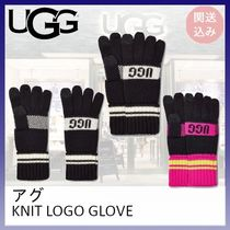 UGG*KNIT LOGO GLOVE*関送込み
