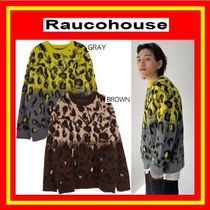 [Raucohouse]  Two-Tone Leopard Knitwear / 2色 /追跡付