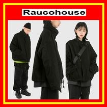 [Raucohouse] High neck crop military jacket / 追跡付