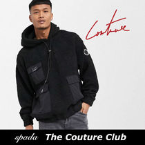 SALE【Couture Club】ロゴ ボアパーカー ブラック / 送料無料