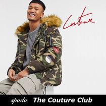 SALE【Couture Club】ファーフード ジャケット 迷彩 / 送料無料